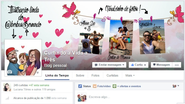 FACEBOOK CURTINDO A VIDA A TRES