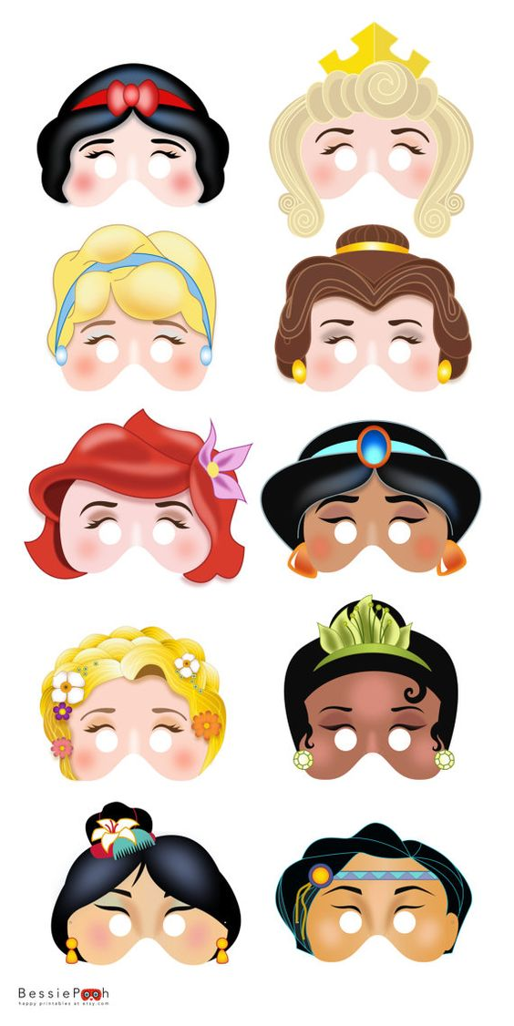 Mascaras Princesas Disney