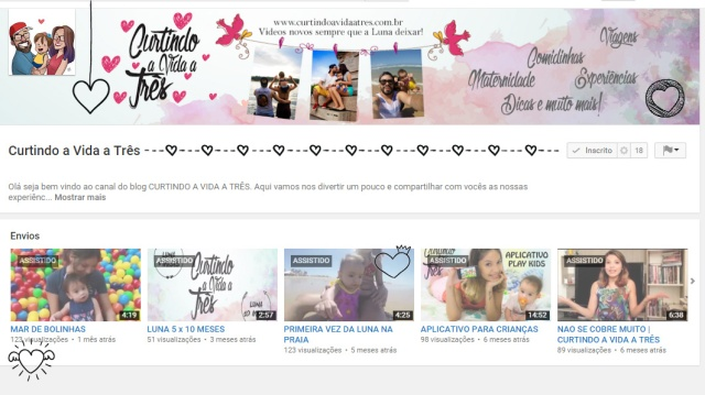 YOUTUBE CURTINDO A VIDA A TRES