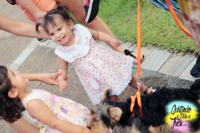 Estela, Luna e cachorrinho